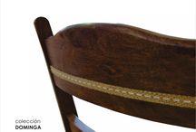 Línea DOMINGA diseñada para RAD MESAS, de Villa Allende, Córdoba / Colección de muebles de Comedor realizado en algarrobo, estilo CAMPO
