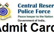 CRPF Admit Cards download / CRPF Admit Card download online Central Reserve Police Force (CRPF)invites online application shape for occupations consistently. Hopefuls who connected for CRPF can download their E-concede Card or Hall Ticket to enter in recommended Exam leading by CRPF. You won't get Admit Card or Hall Ticket at your home by post. You can downloadedadmit cards in up and coming dates previously Exam.