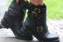 Biker boots.