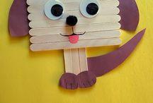 oggetti con bastoncini legno
