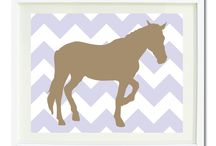 Equestrian Rooms for Girls / Equestrian themed bedrooms for girls and teens.  Duvet cover bedding sets, throw pillows, wall art prints, gallery wrapped canvases, shower curtains for horse lovers.