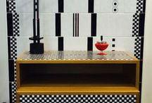 Rovere Maiolicato / speciale dedicato al rovere maiolicato, Il cassettone e mobile da bagno realizzato in rovere e maiolica dalla Ceramica Francesco de Maio con sapiente lavorazione manuale, ispirato al grandissimo Gio Ponti