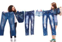 Denim jeans style for girls