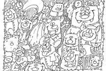 Adult Coloring Pages and Doodles