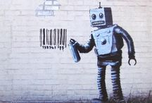 Banksy another painting In the wall