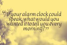 Mornings / The most important time of your day. What are the first words you would like to hear ? :)