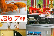 Big Top - Color Trend Fall 2016 / Vibrant colors, aggressive use of line and shape, luxury materials of stone, gilt, and theatrical lighting all take pride of place in this fun fill decorative approach.