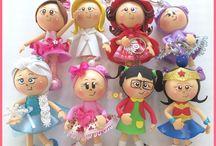 muñecas goma eva