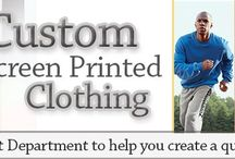 Custom Apparel Printing, t Shirts, Tanks, Sweatshirts / Buy screen printed corporate apparel at EZ Corporate Clothing; ladies and men's custom apparel printing on t shirts, tank tops, sweatshirts, etc.