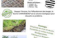 Chanvriberg : produit écologique pourle renforcement des berges