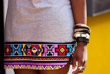 African in me / Clothes with a splash of African print cloth.