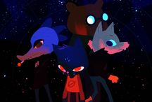Night in the woods / It's all just shapes