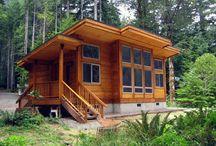 Дом со скатной крышей