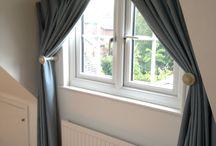 Triangular windows / window dressings for unusual shaped windows