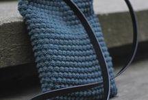 Hækle taske og punge