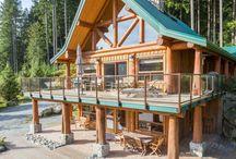 Log Home Exteriors (Artisan) / Log exteriors built by Artisan Custom Log Homes.