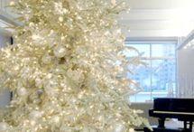 Arvores de natal branca