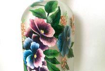 pinceladas en frascos