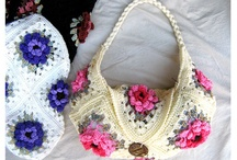 crochet bags and bag charms