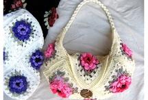 crochet bags and bag charms