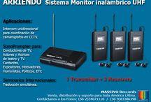 Arriendo de Equipos Audiovisuales / Arriendo de equipos de monitoreo y sonoprompter, inalambrico UHF