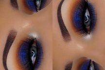 blue eyemakeup