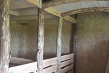 the home stable / wooden horse stalls