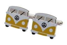 VW Campervan Cufflinks / Classic VW camper van captured in miniature form for your cuffs! Super cool cufflinks with a fantastically retro feel