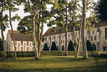 Trois jardins et un parc / Véritable écrin de verdure à 30 km au Nord de Paris, Royaumont compte trois jardins - le Jardin des 9 carrés, le jardin du cloître et le Potager-Jardin - et un parc.