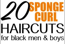 Afro men's haircuts