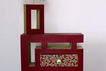 meubles et accessoires en carton