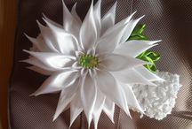 kanzashi ,ribbon flower and bow