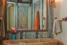 Ванные комнаты в сельском стиле