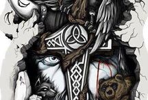 Norse tattoo leftover ideas / Here are some material and ideas used for my tattos .
