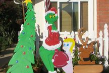 Christmas wood cut outs