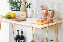 HOME | Bar Cart Styling