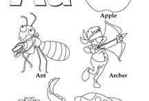 coloring page letters
