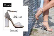 Aggie 29,99€ || Γυναικεία Πέδιλα με Διαφάνεια και Μπαρέτα Γκρι