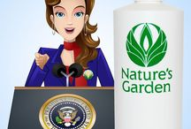 Political Scents - Fragrances / Natures Garden has taken the common personality traits of both Democrat and Republicans and created unique scents.  We also designed a Madam President Scent. #PoliticalScents