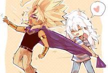 Ryou/Bakura + Malik/Mariku