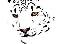 Snow leopard cake