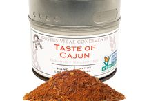 Cajun Cuisine / Bringing that blackened feel to the home of the kitchen. Taste of Cajun will fire up meats and veggies to give a zesty kick.