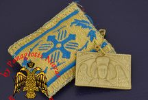 Greek Orthodox Traditional Fabric Items Amulets and more / Fabrics Creates a different inspiration in the Greek Orthodox Tradition