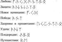 Руны , символы