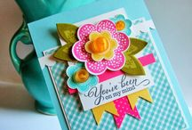 Bright flower cards