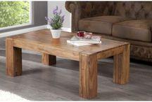 Drewniany stolik kawowy 110x40x60 cm
