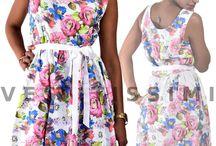 Vestito vestitino donna miniabito fiori vestitini sexy mini abito floreale Vs28