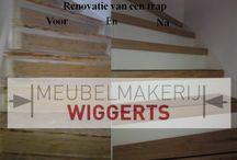 Trappen / Ook het maken van trappen of bekleden van trappen kan gedaan worden door Meubelmakerij Wiggerts.