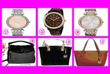 Wednesday's Auction! / http://onecentchic.com/Auction/Details/11927  Win these items tonight for UNDER retail!   #MK #Watches #MichaelKors #KateSpade #Handbags