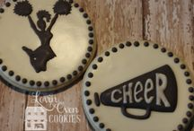 Cheerleader Cheer Cookies & Party / My project board for WWS cookies. I added other ideas for a Cheer Party.
